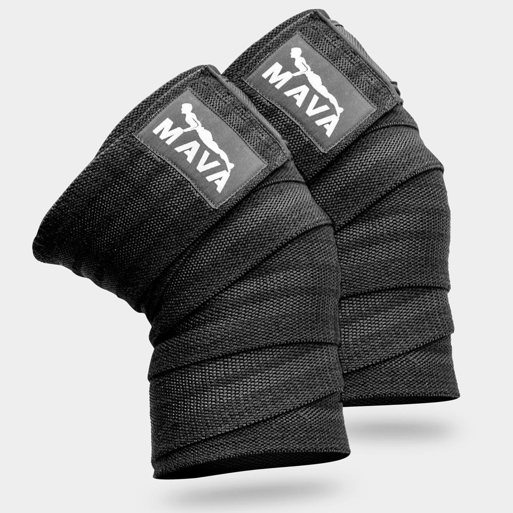 Knee wraps pair black knee wraps compression