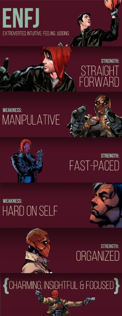 I Like How They Totally Ignore The Compassionate Side Of Enfjs In This Jason Todd Bat Family Red Hood Jason Todd