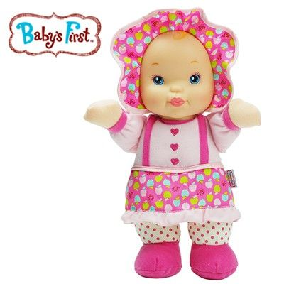 Goldberger Baby's First Kisses Doll - Soft & Baby Safe Machine Washable Toy Squeeze Tummy to Hear Her Say I Love You - Suitable for Ages 1 and Up