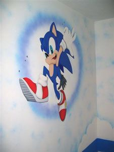 sonic wall mural idea wall murals mural sonic on sonic wall id=70750