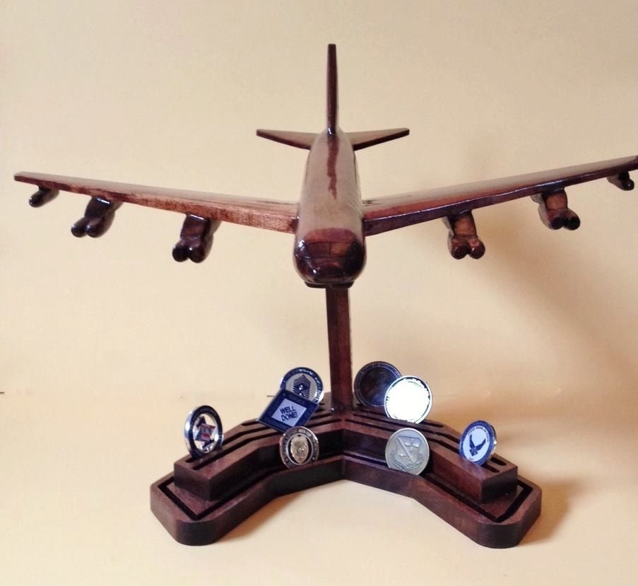 B-52 Air Force 4D Coin Holder with Fully Customizable Bases