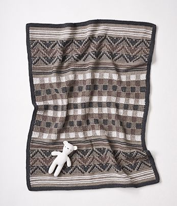 Mosaic Knit Baby Blanket By Cleckheaton Australia