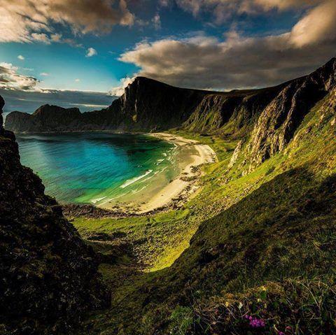 Una playa en Noruega