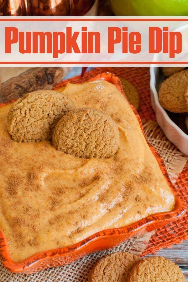 Easy Thanksgiving Dessert - Pumpkin Pie Dip Only 5 ingredients! Easy dessert recipe tastes just lik