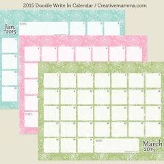write on calendar 2015