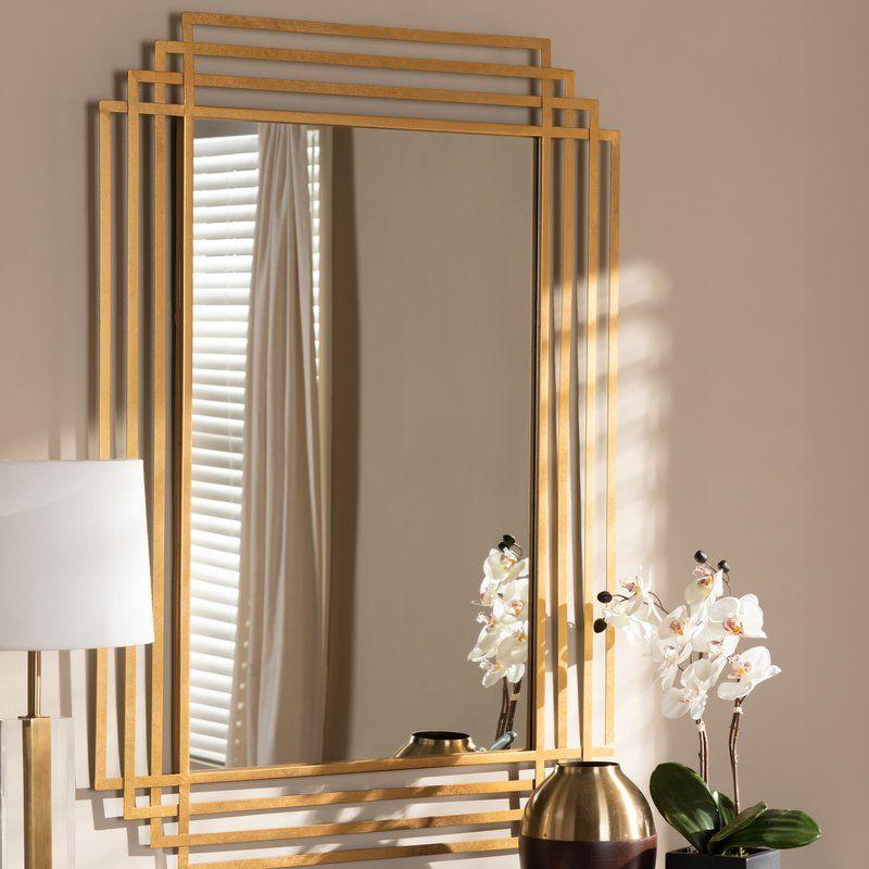 Grubb Wall Mirror Mirror Wall Gold Mirror Wall Mirror Decor