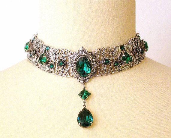 Emerald Swarovski Crystal Choker Victorian от LeBoudoirNoir
