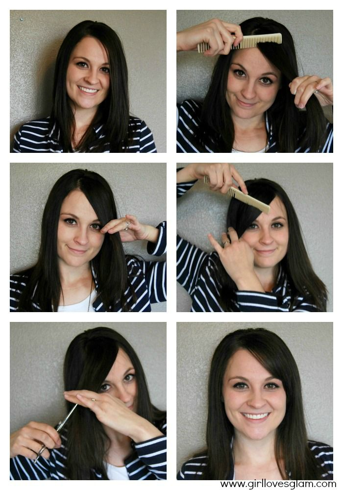 How To Cut Your Own Side Swoop Bangs Hair Pinterest Bangs