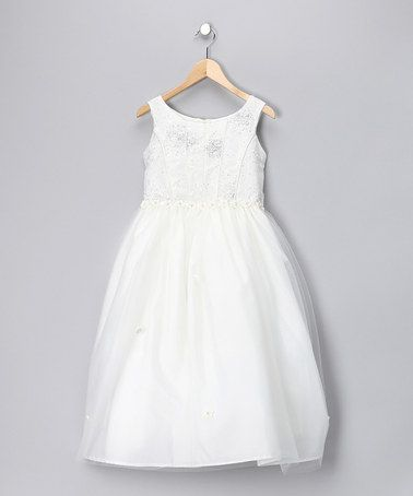 Take a look at this Ivory Shimmer Dress - Girls by Tip Top Kids on #zulily today!