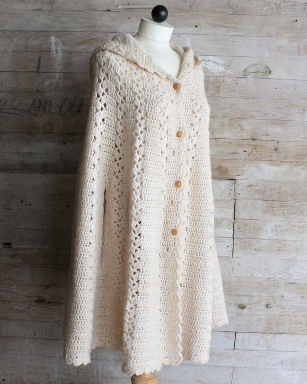 Long Hooded Cape Crochet Pattern | Blusas