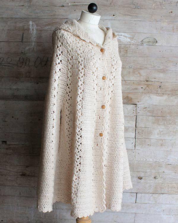 Long Hooded Cape Crochet Pattern | CrochetADD | Pinterest | Blusas ...