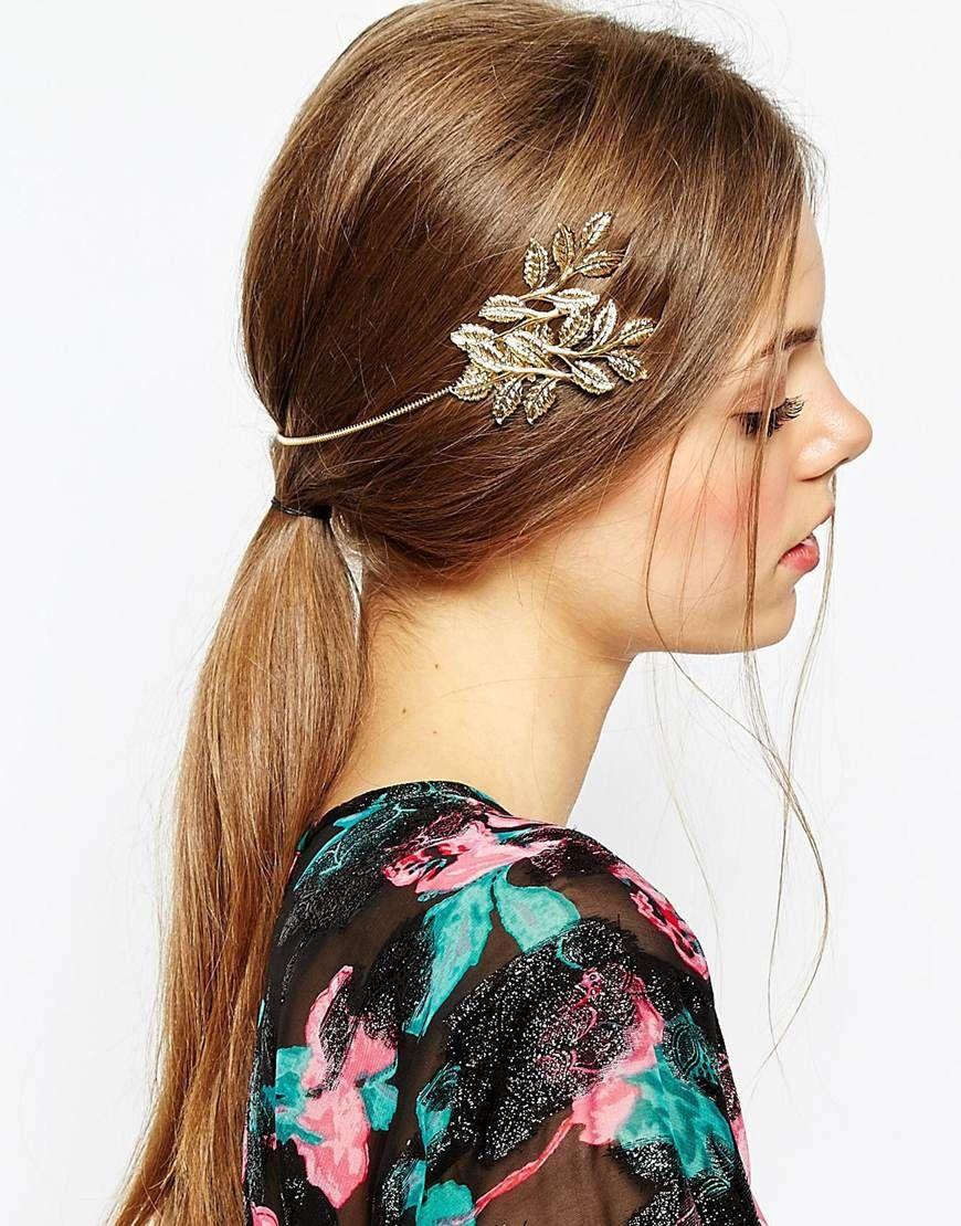9e0667be233 ASOS Occasion Side Leaf Back Headband