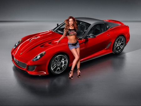 Ferrari 599 Gto Girls And Cars Wallpaper Id 328525 Desktop Nexus Cars Ferrari Donne