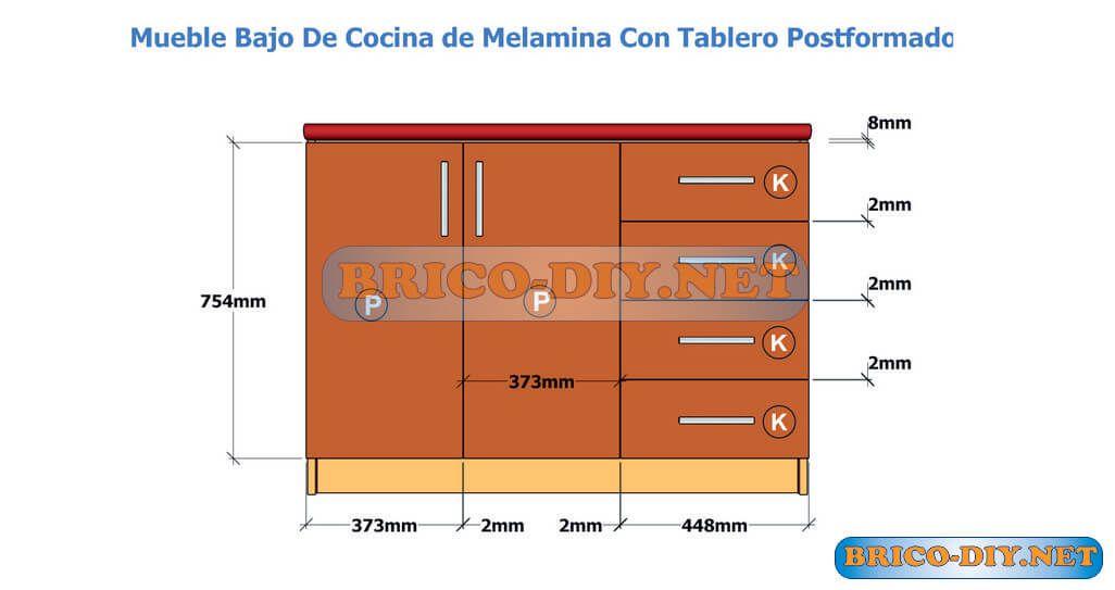 Pin von BRICO DIY NET auf Muebles de cocina melamina madera Mdf ...