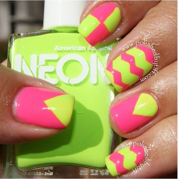 Fotos de uñas color verde – 45 Ejemplos | Green Nails #green #nails ...