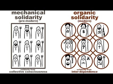 Durkheim S Mechanical And Organic Solidarity What Holds Society Together Sociology Sociological Concepts Solidarity
