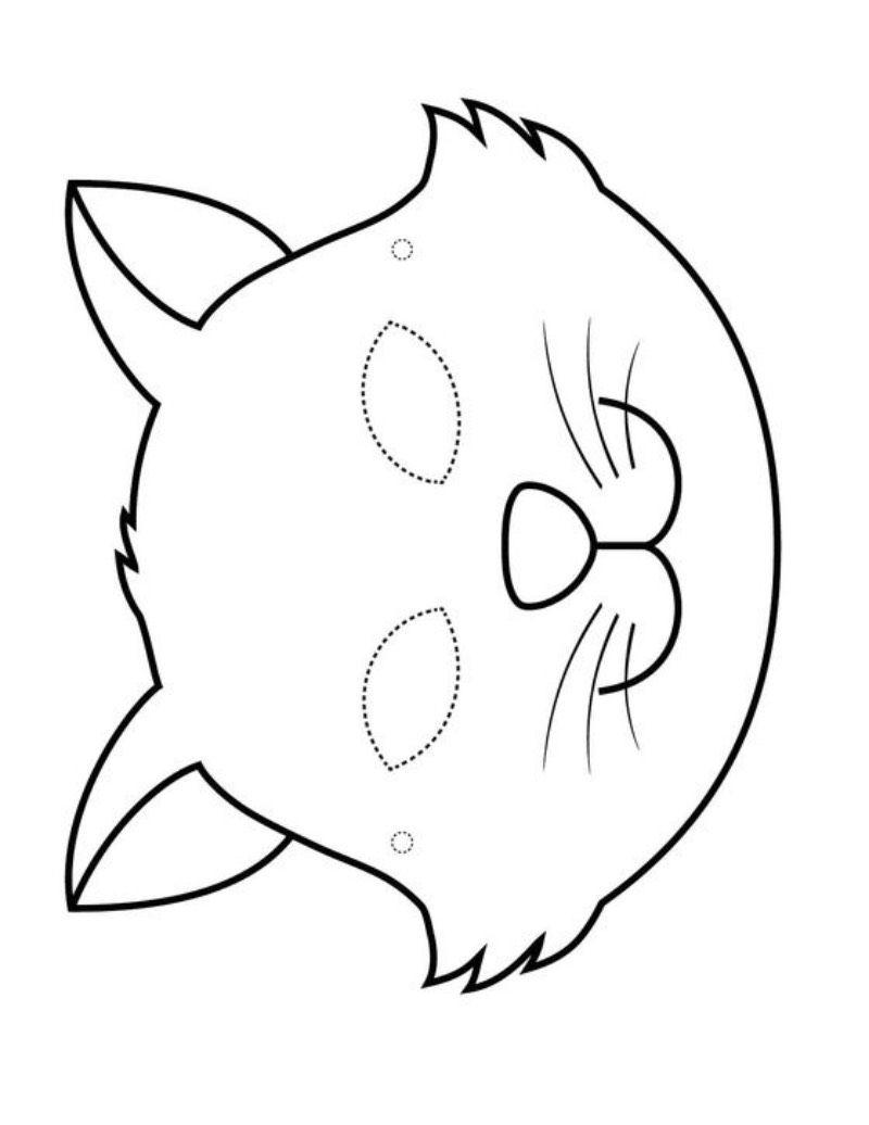 Maski Karnawalowe Koty Mascaras De Animais Artesanato De Gato Rostos De Animais