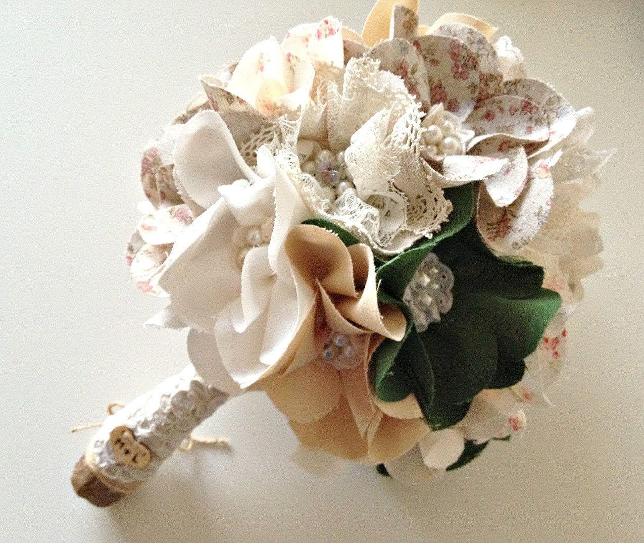 Fabric floral bouquet fabric flower bouquet shabby chic weddings fabric floral bouquet fabric flower bouquet shabby chic weddings handmade wedding bouquet izmirmasajfo