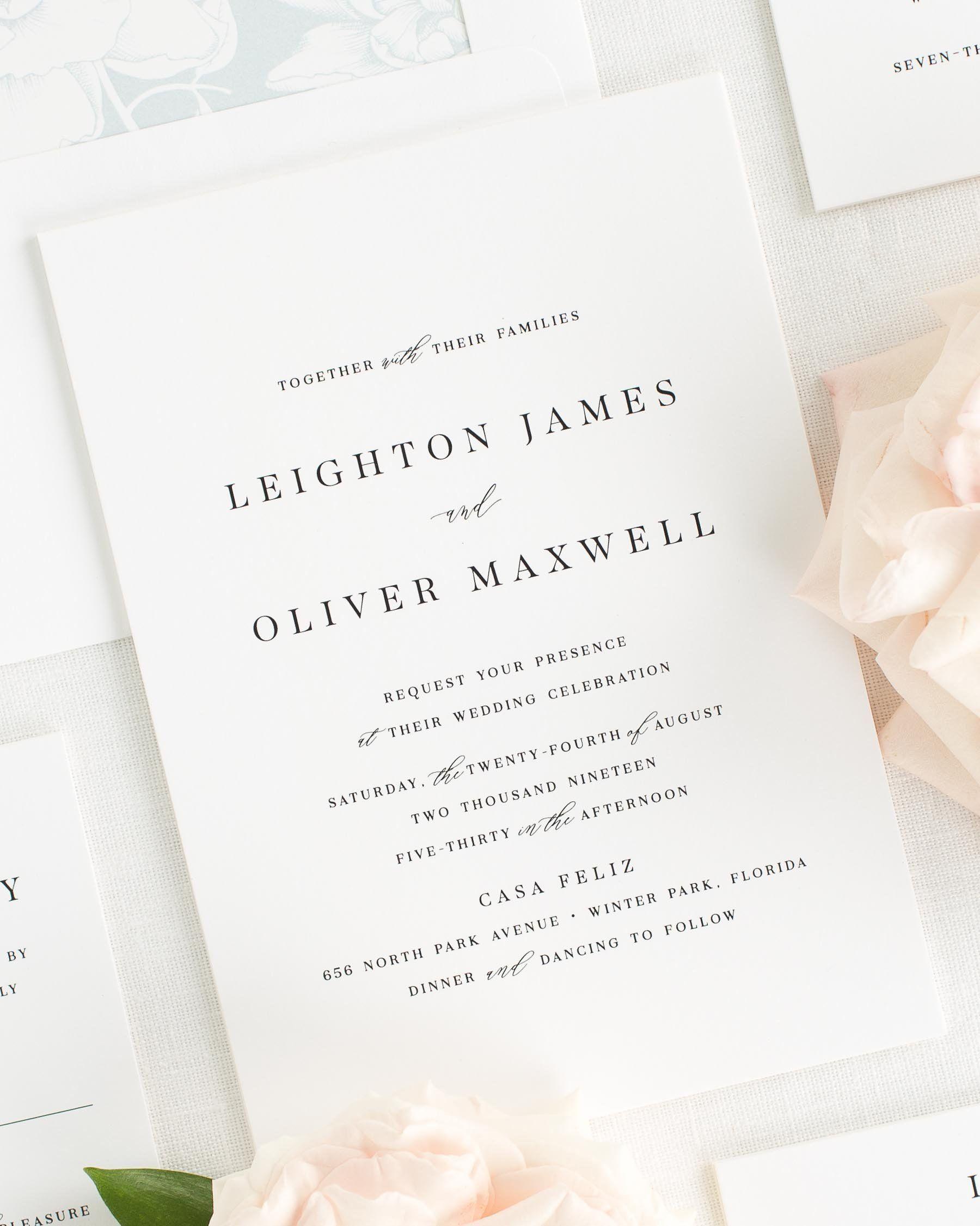 Celebrity Wedding Etiquette: Leighton Wedding Invitations In 2020