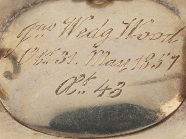 An early Victorian memorial brooch John Wedg Wood. : Lot 7