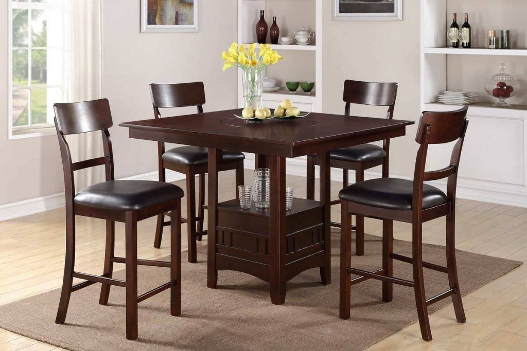 Bar Height Dining Table Set Counter Height Dining Table 4 X Counter Height Dining Chairs Tall Dining Room Table Dining Table Setting Dining Room Table