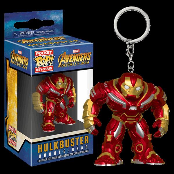 2X Funko Pocket POP Keychain Avengers Age of Ultron Hulk Figure Toy