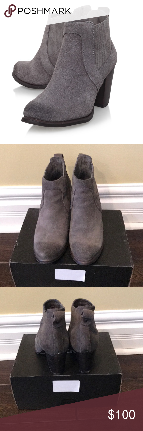d067732cb45 NWOT Ugg Cobie ii Grey Ankle Suede Boots These boots feature memory ...