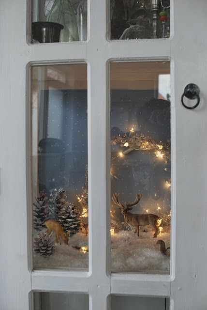 Forest scene in a cupboard . . charming