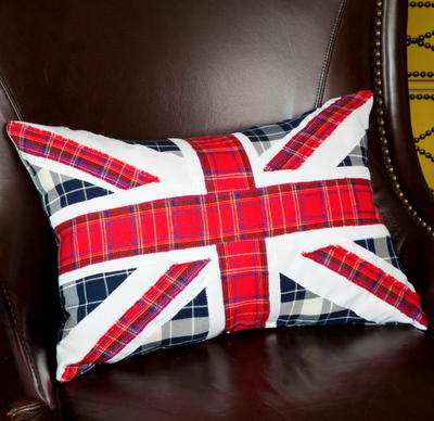 mark montano london calling union jack pillow diy for the olympics on my to do list. Black Bedroom Furniture Sets. Home Design Ideas