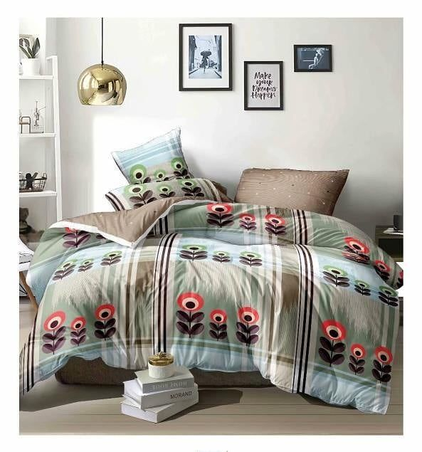 Dublin bedsheet 3 pc set 1 bedsheet 2 pillow covers Fabric - glace cotton Size -90*100  Packing - bo...