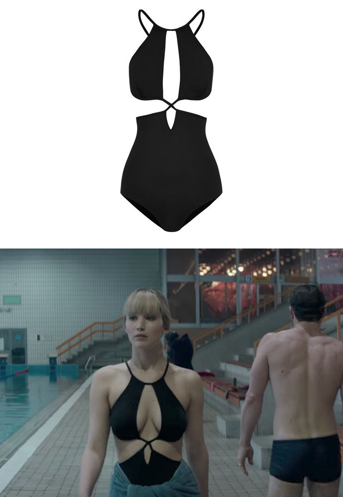 6a4096b05cea Jennifer wore a Ephemera Cutout One-Piece Swimsuit in the trailer of Red  Sparrow