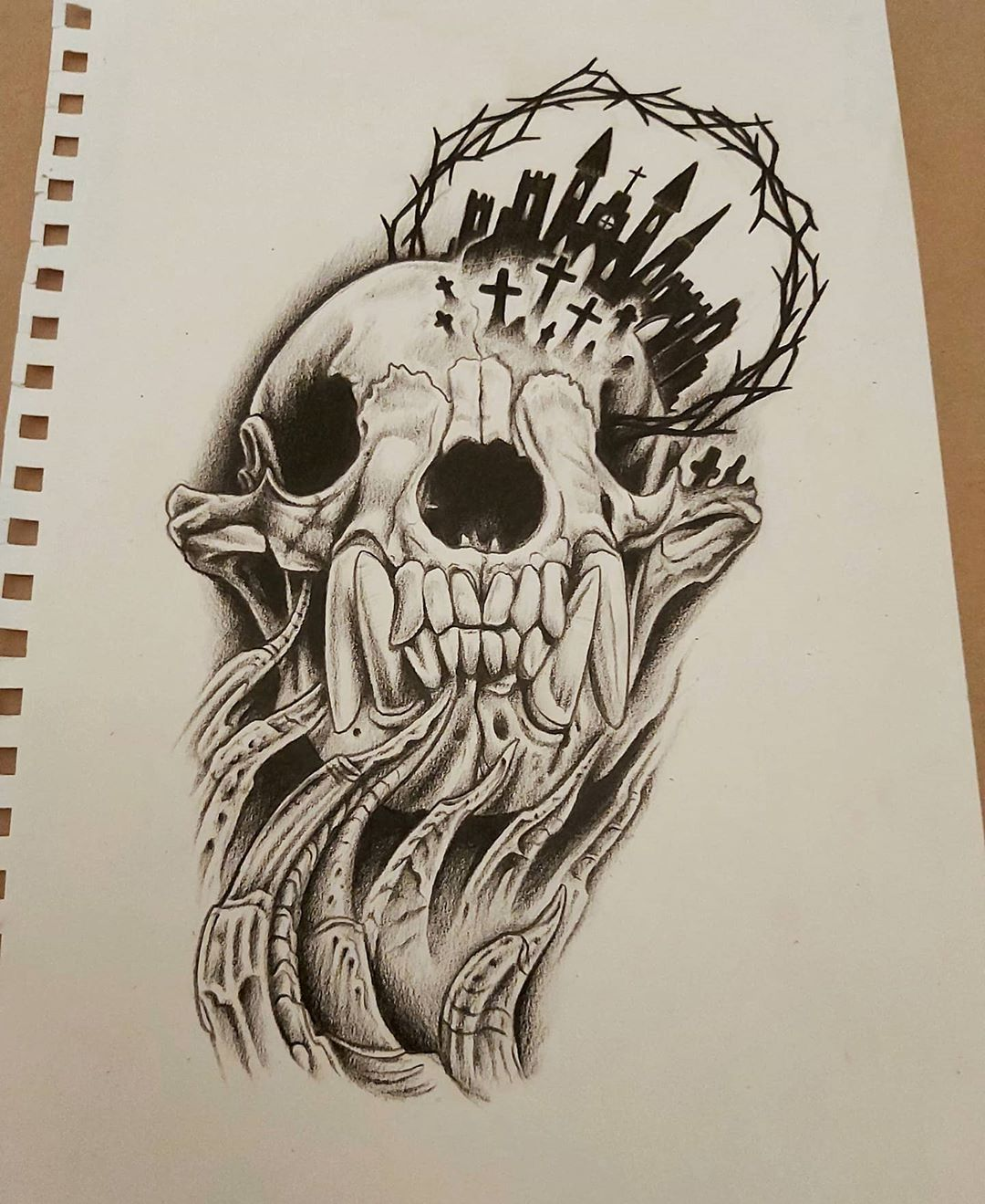 Yet another drawing from B, guess there's nothing else to do! @beesmithtattoo #agencyinc #agencytattoo #tattoo #tattoos #dunedin #nz #flash #tattooflash #tattoodesign #drawing #skull #lockdown