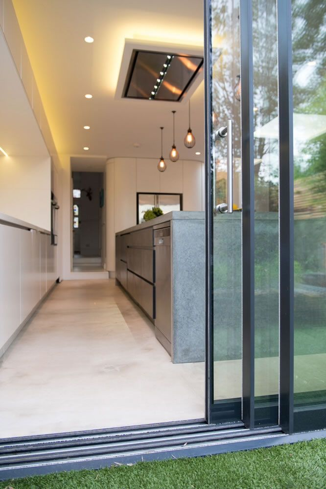 Frameless Glazing Systems : Frameless sliding glass patio door system slimline
