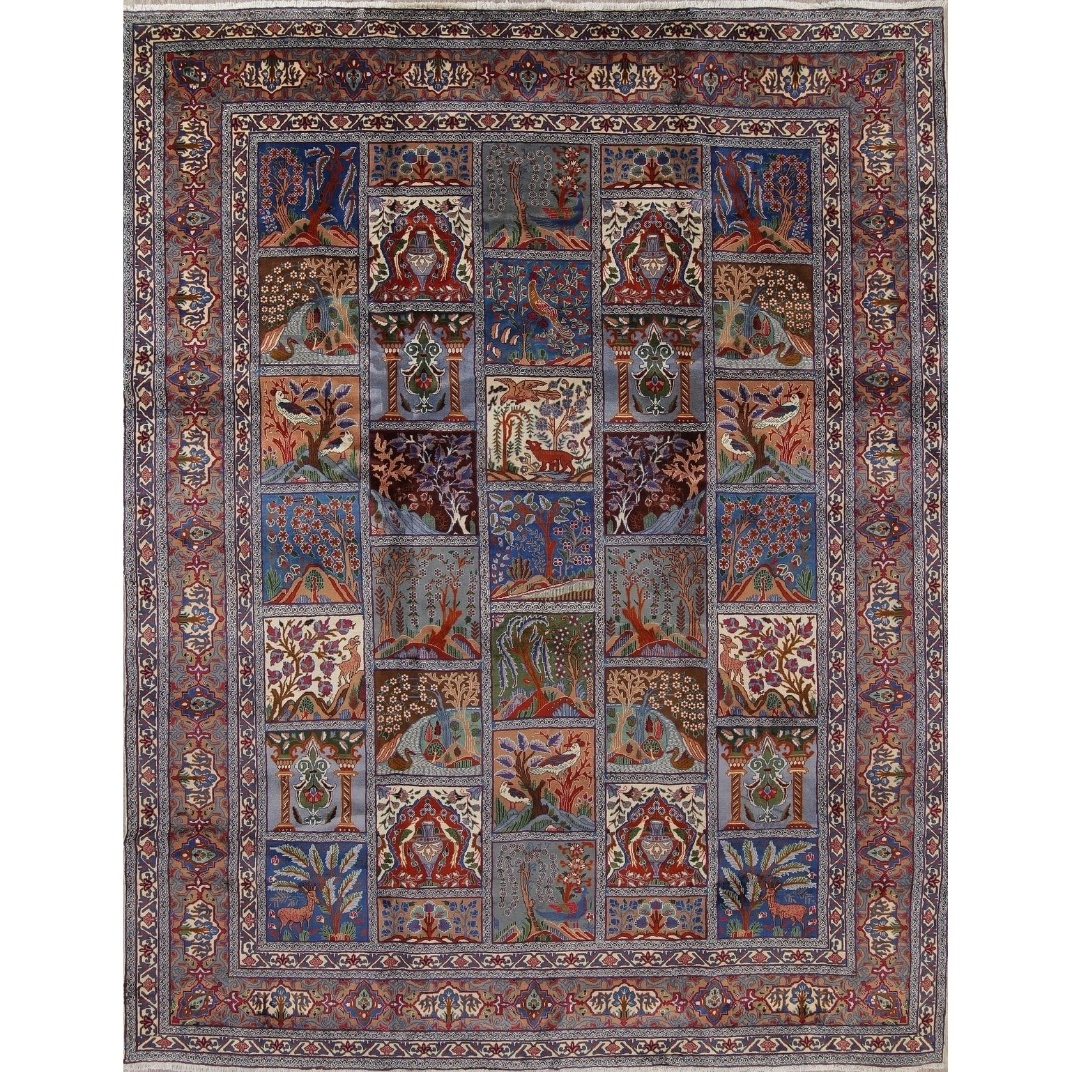 Kashmar Garden Design Handmade Wool Persian Oriental Area Rug 12
