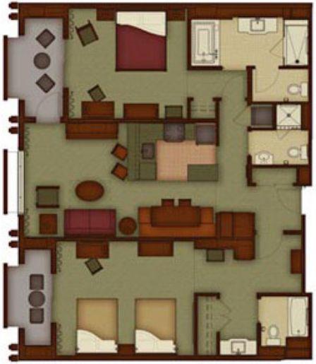 Grand californian three bedroom grand villa helpful tips - Disney grand californian 2 bedroom suite ...