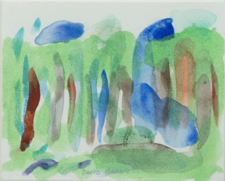 David Barnett Oasis In Iridescent Forest Miniature Watercolor