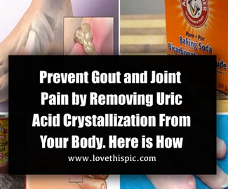 Prevent Gout and Joint Pain by Removing Uric Acid Crystallization From Your Body. Here is How