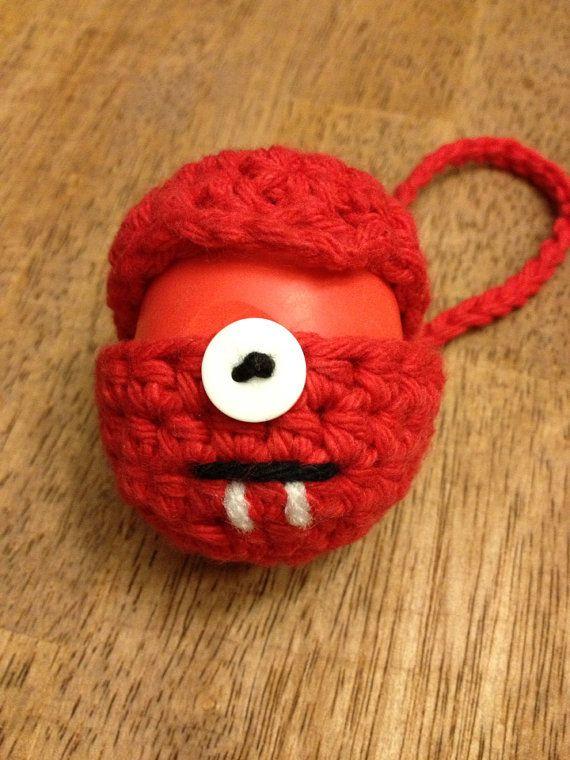 Red Monster - EOS lip balm holder on Etsy, $9.50 | beauty ...