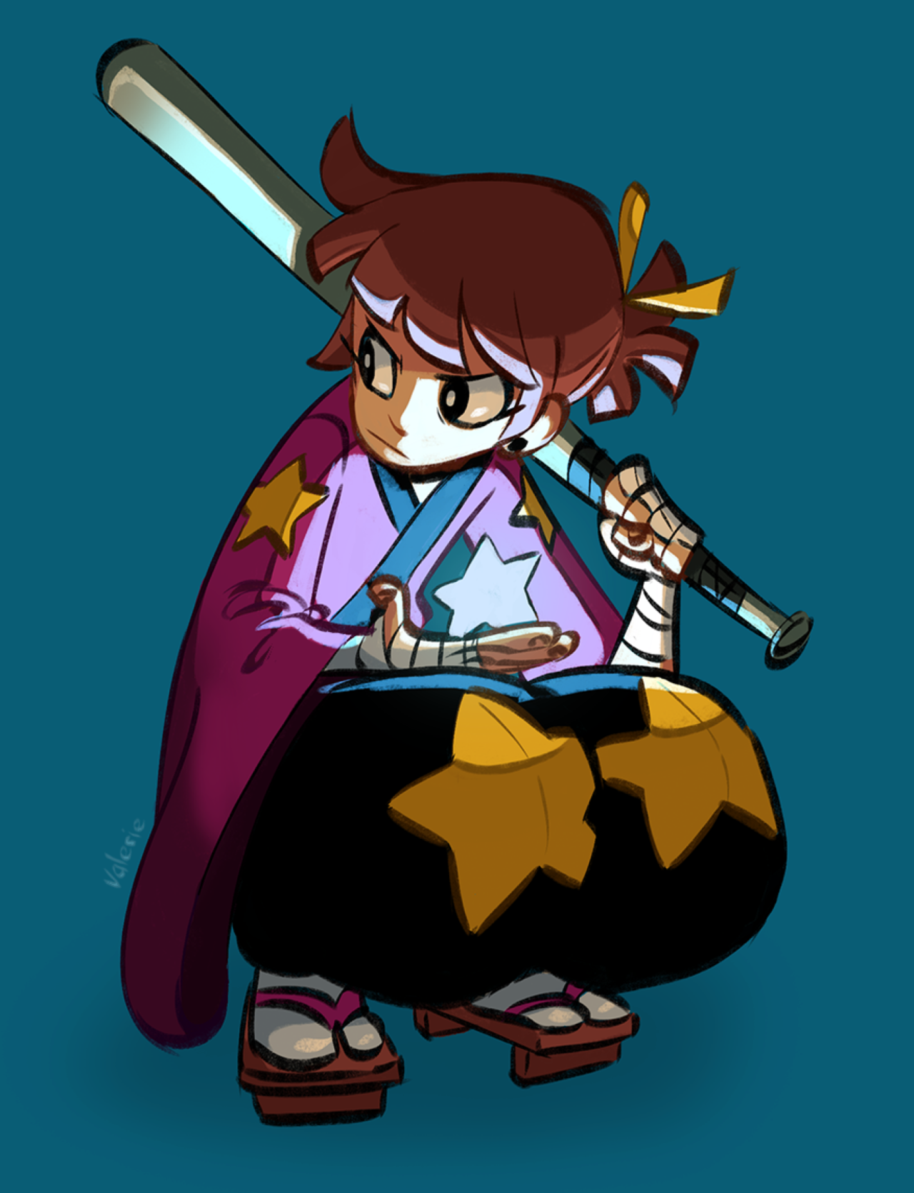 Did That Magical Girl Generator Thing Magical Girl Valerie Theme Samurai Motif Star Weapon Character Design Concept Art Characters Female Character Design