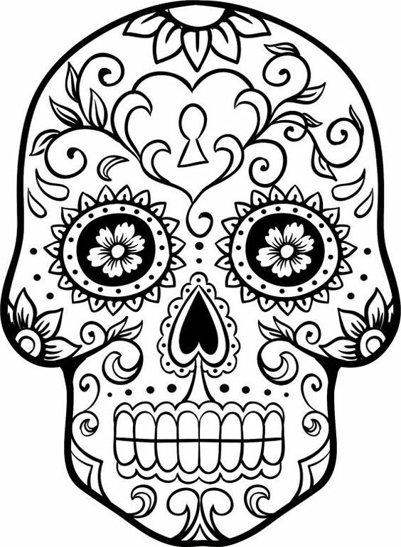 Colouring In halloween Pinterest - copy dia de los muertos mask coloring pages