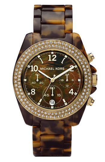 Michael Kors Blair Resin Crystal Bezel Watch Michael Kors Uhr Marken Outlet Und Michael Kors Tasche