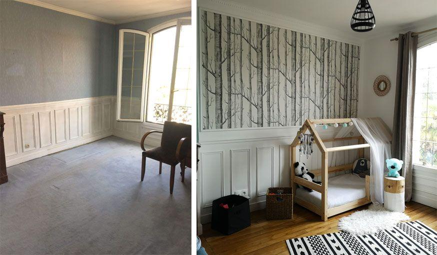 Avant Apres Ils Ont Renove Une Meuliere De 90 M2 Pour 50 000 Euros En 2020 Deco Entree Maison Decoration Maison Idee Chambre