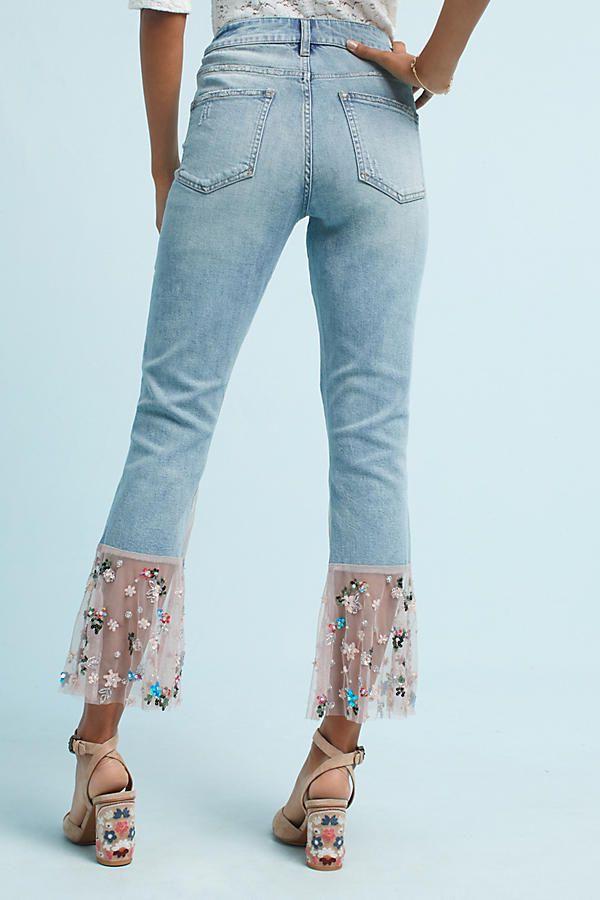 Pilcro High Rise Slim Boyfriend Jeans Denim Repurposed
