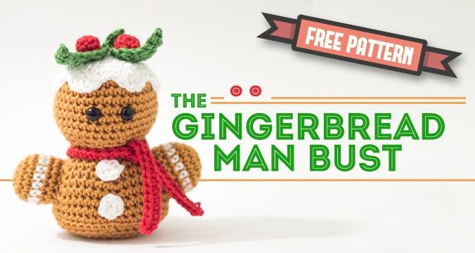 Free Amigurumi pattern – Gingerbread man bust | Dendennis ...