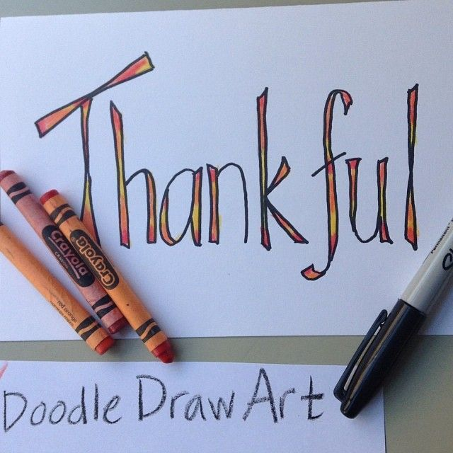 Make a Thanksgiving card, place card, decoration, poster