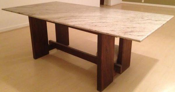 Mesas com tampo de granito pesquisa google mesas de granito pinterest granito mesinhas - Mesa de granito ...