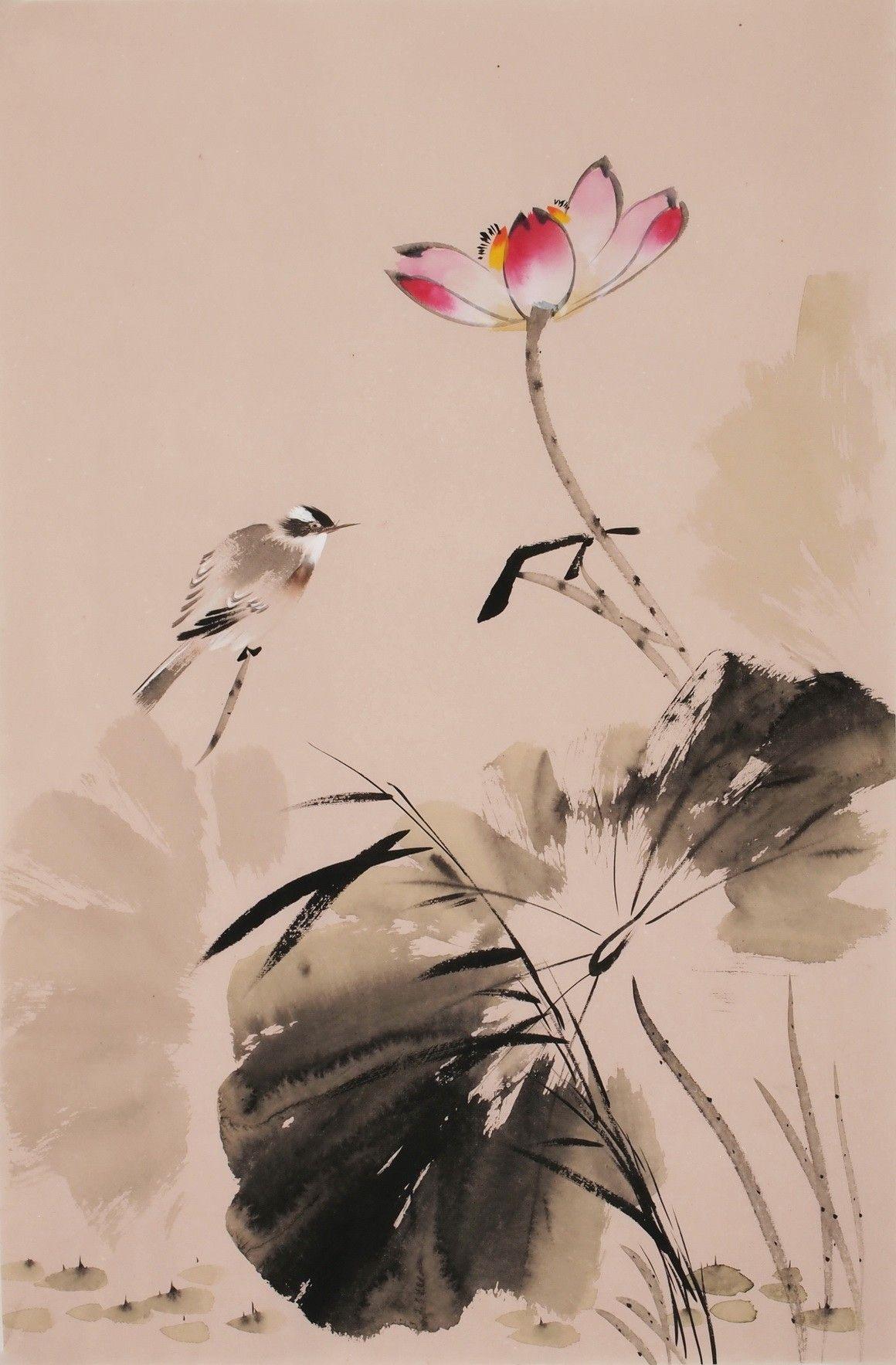 Chinese lotus paintings chinese painting lotus pinterest chinese lotus paintings dhlflorist Choice Image