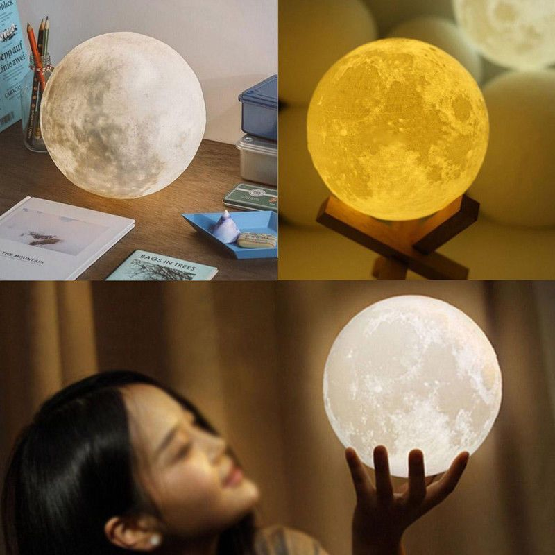 The Moon Lamp Is Popular For Its Unique Design And High Quality You Can Pat It Directly With Your Fingers To Change Led Night Light Night Light Moon Light Lamp