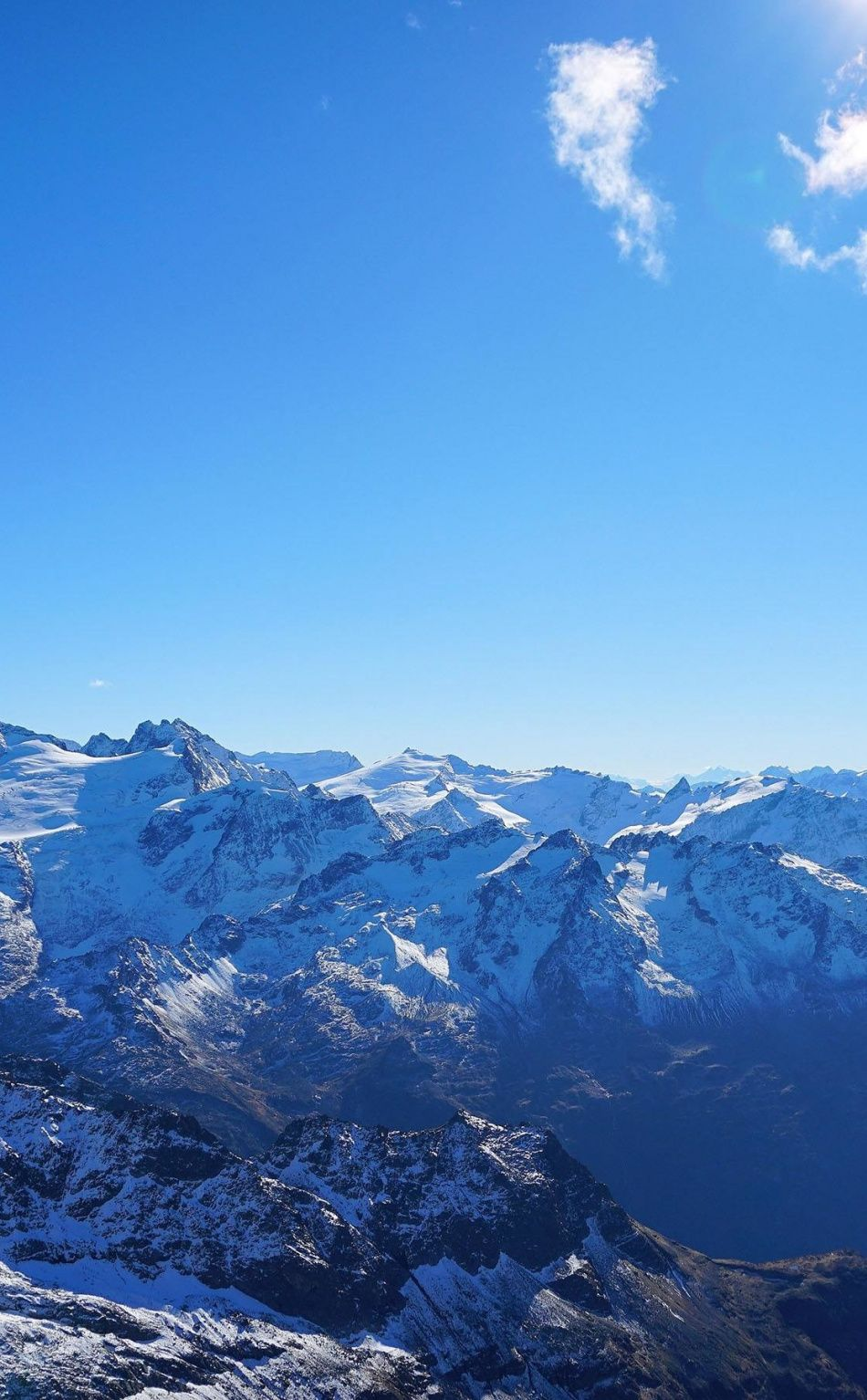 Altitude Sunny Day Blue Sky Mountains Nature Wallpaper Blue Sky Wallpaper Nature Wallpaper Sky Landscape