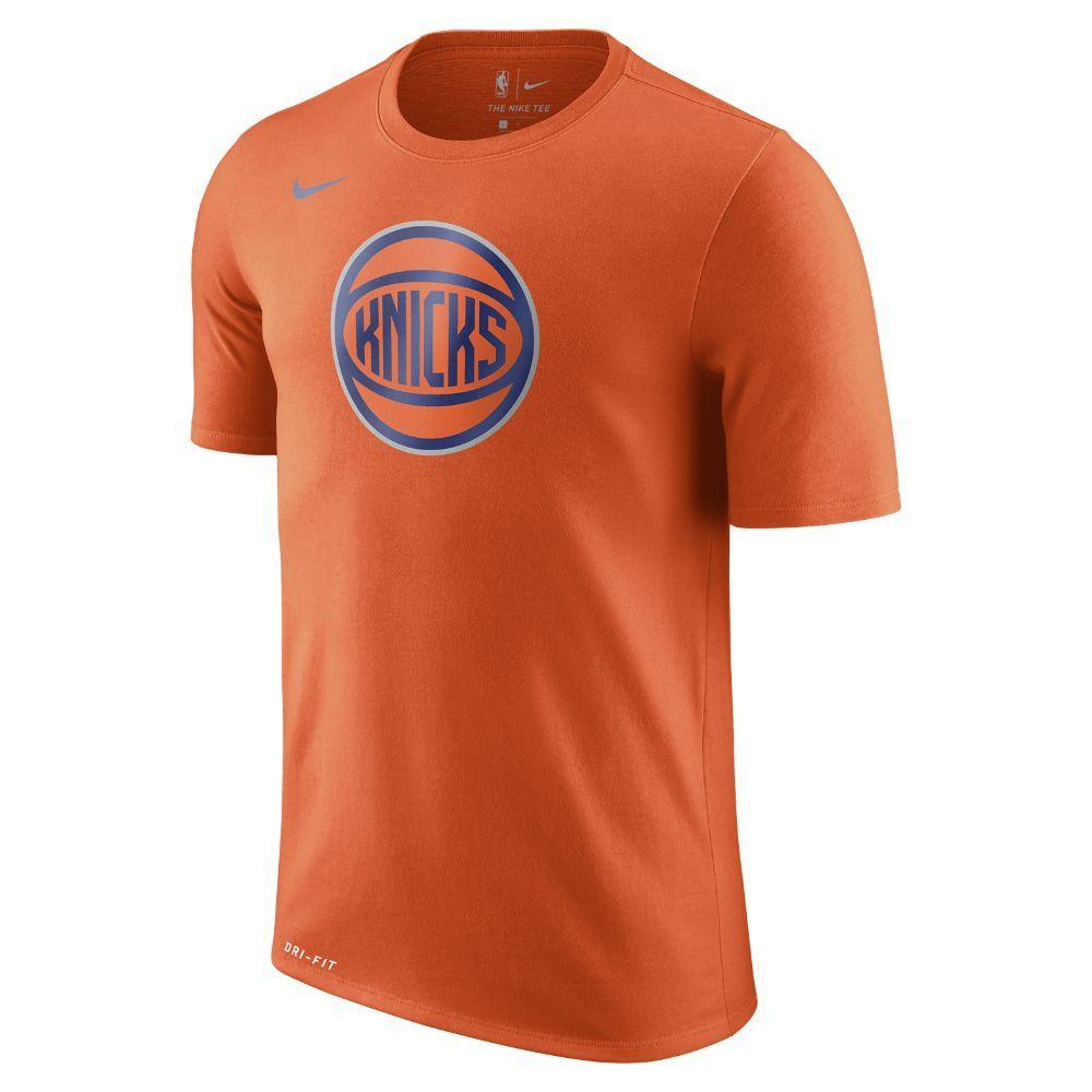 e26e54d21 New York Knicks Nike Dry Logo Men s NBA T-Shirt Size
